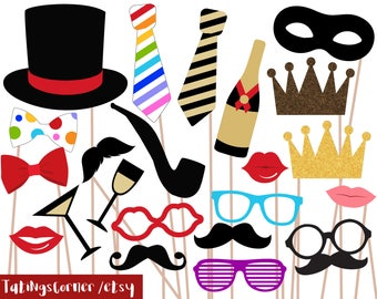 Wedding photo booth props - Party photo booth - Carnival Photobooth Props  - Circus photo booth - Wedding photo props - wedding photo booth