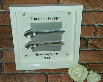 Spooning Since Valentine Frame, Personalised Valentine's Gift, Gift For Him, Gift For Her
