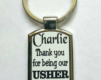Personalised Usher Keyring - New - Boxed