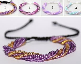 Beaded bracelet Multi Strand bracelet Bead bracelet for mother Adjustable bracelet Beaded jewelry Girlfriend gift for Womens gift for her