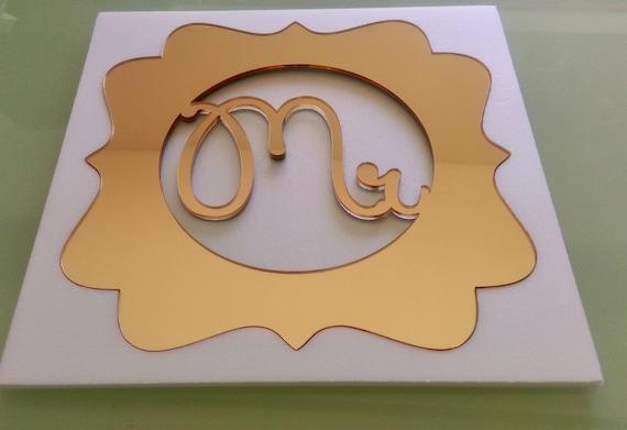 Custom wedding table monogram Mr & Mrs Monogram Personalised Gold Monogram Charger Place mat Laser Cut Monogram Decorative Monogram Design