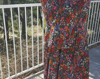 Floral 70's Skirt and Blouse Boho Skirt and Blouse