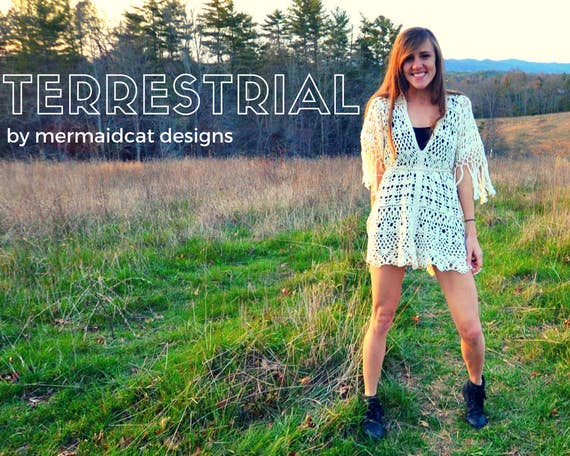 Crochet cover up pattern - Terrestrial