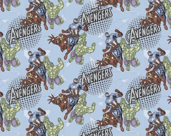 "Marvel Avengers Assemble  by Springs Creative  100% cotton 43"" wide fabric  (SC487)"