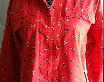 LizSport Cotton Dress Shirt size Medium