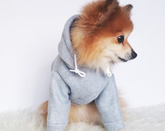 HANDMADE dog clothes, XS~4XL,Gray sweater dog hoodie, pet clothes,small dogs clothes,winter clothes, puppy hoodie,dog hoodies,puppy sweaters