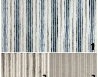PAIR of window curtains window panels window drapes stripes curtains window treatments beige curtains