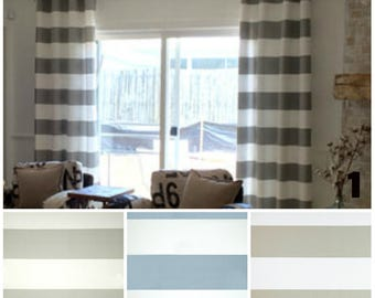PAIR of window curtains window panels stripes curtains modern window curtains custom drapes