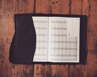 2017 diary handcrafted leatherbound book cover handsewn in softest suede and leather unique gift