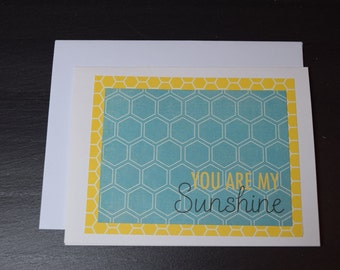 Handmade Blank Greeting Card - You are my sunshine for all occasions
