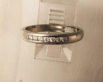 Ring 18 Ct white gold set