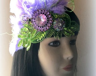 1920s headpiece/Great Gatsby headpiece/Flapper headpiece/Wedding headpiece/Rhinestone headpiece/hair jewelry/hair accessories/Ivy
