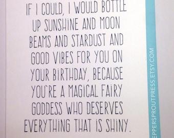 good vibes birthday card