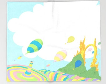 oh the places you'll go dr seuss,  throw blanket