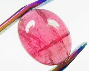 3.60Ct, 10X8MM, 100% Natural Beautiful Pink Tourmaline Cabochon Oval