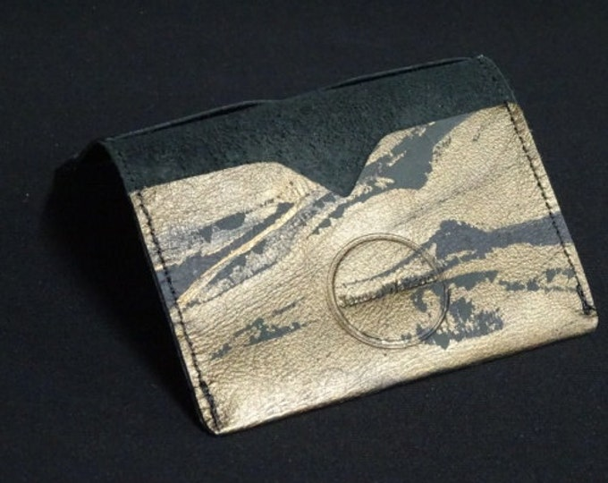 Bantam Wallet - (7of8) Bronze Art - Kangaroo leather with RFID Credit Card Blocking - James Watson
