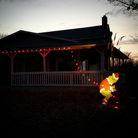 Best 25 grinch christmas lights ideas on pinterest grinch grinch stealing christmas lights yard art easy outdoor aloadofball Image collections