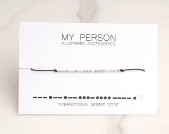 My Person Morse Code, Morse Code Bracelet, Morse Code Jewelry, Message Jewelry, Wife Gift, Wedding, Bride, Birthday