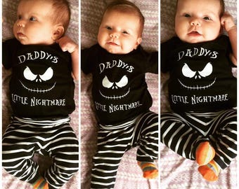 Jack Skellington Mommy OR Daddy's Little Nightmare Creeper or Tee, Nightmare Before Christmas Baby, Boys Girls, Tim Burton,