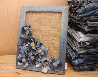 Denim Home Decor Wall Coutry Style Flower Something