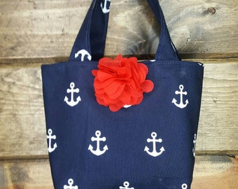 Nautical Child's Purse, Childs Purse, Childs Anchor Purse