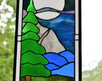 Stained Glass Moon Etsy