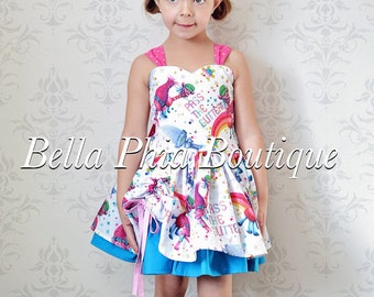 White Trolls Poppy Dress
