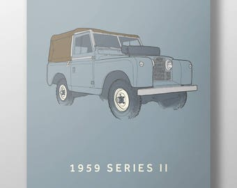 1959 Land Rover Series 2 print