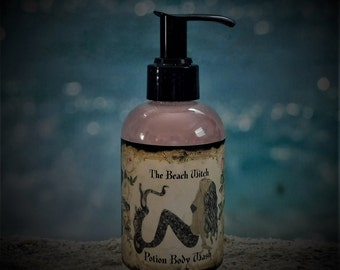 BEACH WITCH Potion Body Wash, Shower Gel, Ritual Body Wash, Choose Scent or Request a Custom Potion Blend, Wicca, Witchcraft , Beauty 6 oz