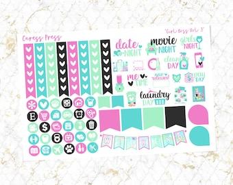 Girl Boss Vol. 3 Functional Sheet   64 Stickers