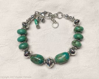 Turquoise and .925 Sterling Silver Bracelet