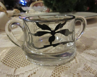 VINTAGE SUGAR BOWL with Handles
