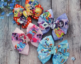 My little pony birthday gift for girlfriend First birthday bows My little pony hair bow Baby headband Big bow Rainbow baby gift Rainbow Dash