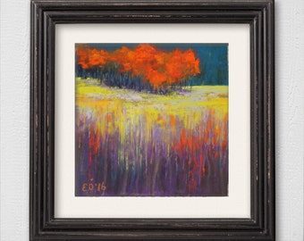"Original Pastel Painting ""Abstract Autumn Landscape"""