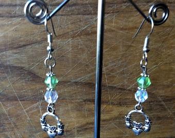 Claddagh Dangle Earrings