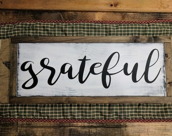 Grateful with wood border