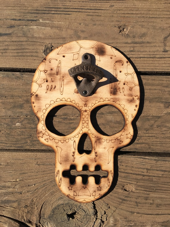 Skull Bottle Opener sugar skull bottle opener beer bottle