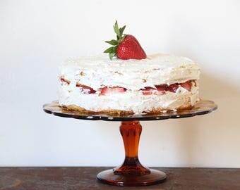Vintage Cake stand, Cake Stand, Glass Cake Stand