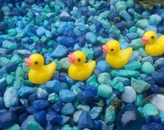 Add on item!! Fairy Garden Ducks, Miniature Rubber Duckie, Dollhouse Ducky, Fairy Animals, Little Rubber Ducky, Yellow Ducklings