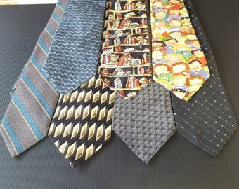 FREE SHIPPING,Vintage ties lots, seven day ties, seven ties, for him