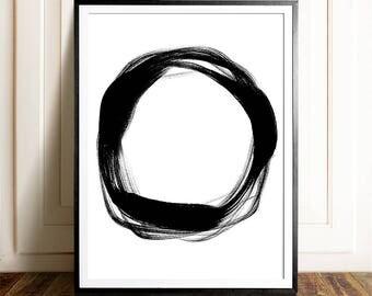 Abstract artwork, PRINTABLE, Wall art, Modern Minimalist print, Modern art, Minimalist Art, Brushstroke Art, Contemporary Art, Black & white