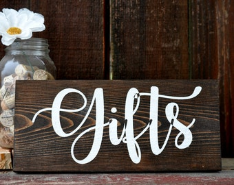 Rustic Wedding Gifts Sign  Wood Sign Rustic Wedding Decor  Wood Sign Country Wedding Prop Gifts Wedding Gift Table Sign