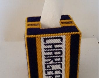 Los Angeles Chargers Boutique Tissue Box Cover