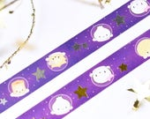 Foiled Galaxy Washi - Silver Foil, Gold Foil [Foil Washi, Silver Washi, Gold Washi, Space Washi, Star Washi] // GALAXY COLLECTION