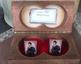 Vintage Off The Cuff Goya 1788 Manuel Osorio Portrait Museum Gift Shop MIB Cuff Links Cufflinks 2043C25