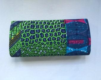 African Wax print Clutch