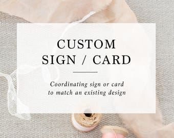 Add-on : Custom Sign / Card