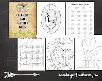 Dino Excavation Digital Activity Book