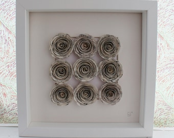 Music Note Framed Paper Roses Bouquet