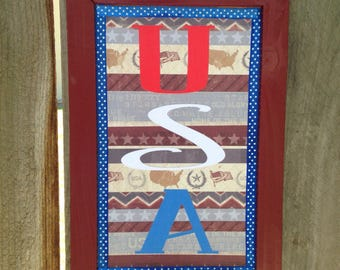 USA, wall decor, patriotic decor, patriotic, red white blue, Memorial Day, July 4th, Americana Decor